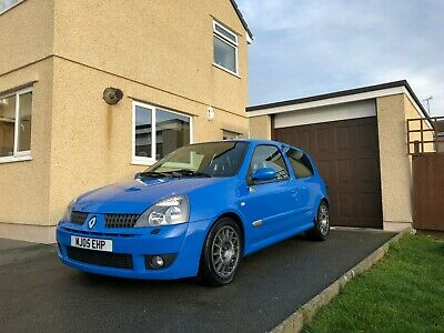 Renault Clio Renaultsport 182 Cup Racing Blue Track Car