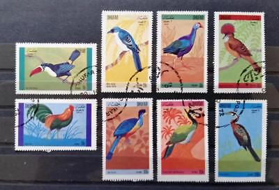 OMAN - DHUFAR - 1972 - Birds - Full set of 8 USED stamps