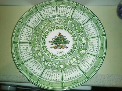 Collectable Spode Christmas Plate With 2002 Calendar.