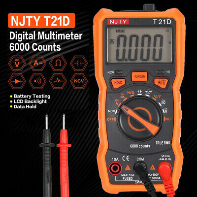 6000 Counts Non Contact LCD  Ammeter Meter Tool  T21D Digital Multimeter