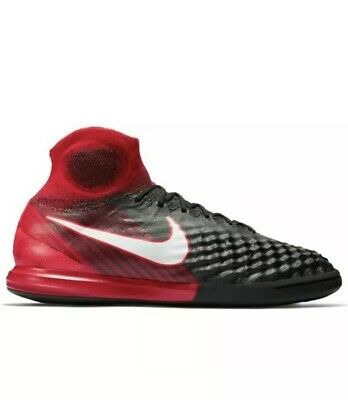 best service d7f93 0e00c Nike MagistaX Proximo II IC DF Indoor Soccer 843957 061 Black White Red  MENS 9.5