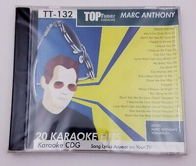 MARC ANTHONY ~ Top Tunes Karaoke~132 ~ You Sang to Me ~~ I