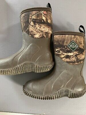 dcff8723b5d02 ORIGINAL MUCK BOOT COMPANY Youth Kids Boots, Size 2, Brown CAMO Realtree