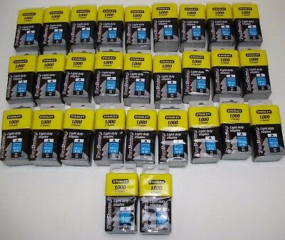 """STANLEY LIGHT DUTY 14mm 9/16"""" STAPLES 29 BOXES OF 1000 (29000) TYPE 53 0-TRA209T"""