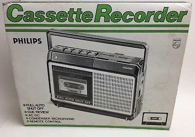Philips N2228 Cassette Tape Recorder Player Retro Vintage Computers N2228/55