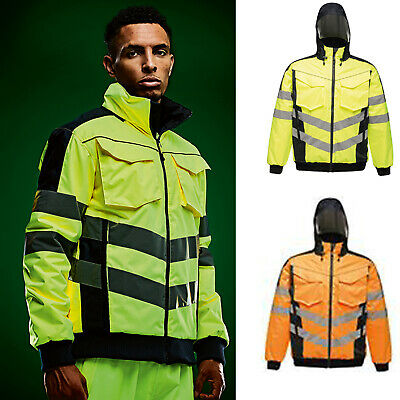 Regatta High Visibility Waterproof and Windproof Bomber Jacket TRA314