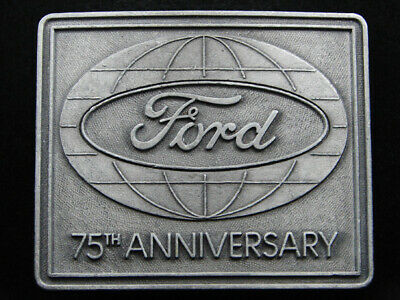 RI07138 VINTAGE 1970s **FORD MOTOR COMPANY 75TH ANNIVERSARY** BELT BUCKLE