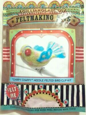 "GillianGladrag ""Chirpy Chappy"" Bird Needle Felt Kit...Brand New."