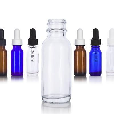 .5 oz / 15 ml Glass Boston Round Bottle - Select Color, Closure, & Pack