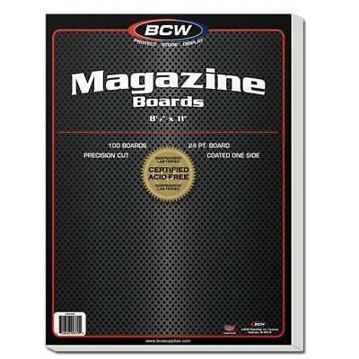 200 Bcw Resealable Thick Magazine 2 Mil Archival Poly Bags + 200  Backer Boards
