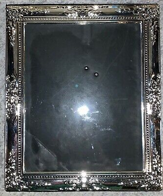 "Silver Plated Old Fashioned Inspired Picture Frame 8""x12"""