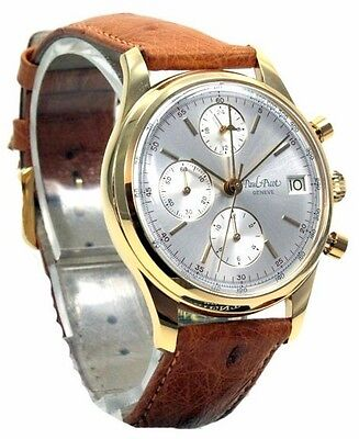 Paul Picot Chronograph 38Mm....automatic Lemania 5100.... Solid 18K Gold !
