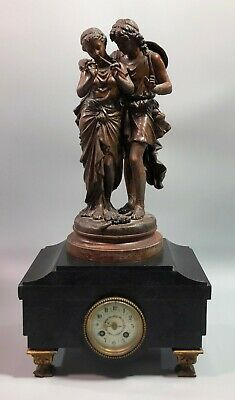 French Russian Empire marble mantelpiece clock Samuel Marti Auguste Peiffer