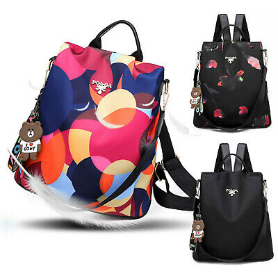 Women's Anti-Theft Backpack Oxford Cloth Waterproof Multicolor Shoulder Bags