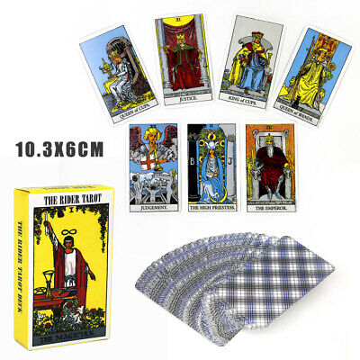 78Pcs Rider Waite Tarot Deck Beginners Enthusiasts Gift English Games Cards AU