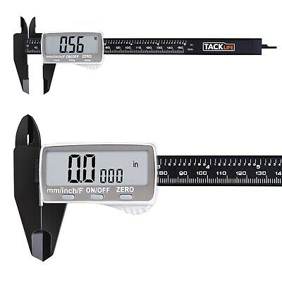 Digital Caliper 6 Inch with Larger LCD Display, Inch/Fractions/Millimeter Con...