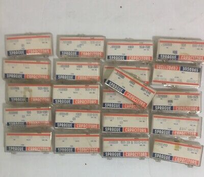 Lot of 101 SPRAGUE Capacitors DO NOT BUY