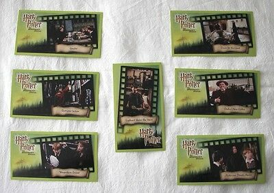 Lot Of 7 Harry Potter And Sorcerer's Stone Movie Trading Cards***All Excellent
