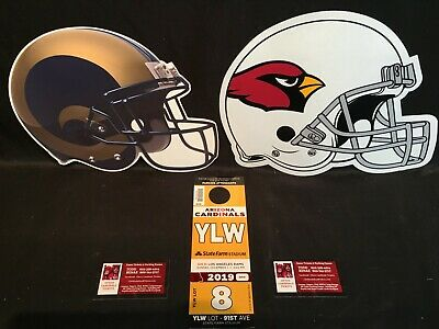 Arizona Cardinals v LA Los Angeles Rams 12/1 Yellow YLW Lot Parking Pass Tickets