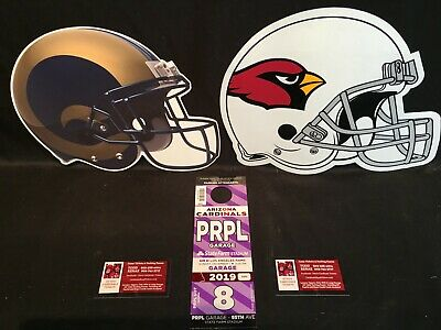 Arizona Cardinals LA Los Angeles Rams 12/1 Purple Hotel Garage Lot Parking Pass