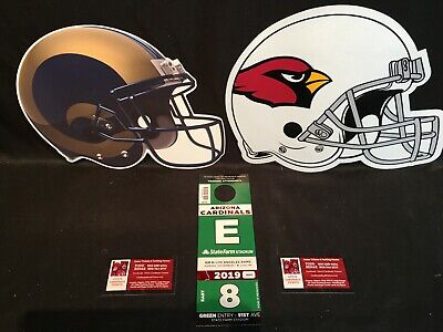 Arizona Cardinals vs Los Angeles Rams 12/1 Green E East Lot Parking Pass Tickets