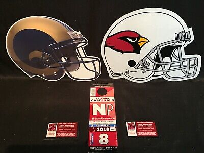 Arizona Cardinals Los Angeles Rams 12/1 Red NP North Preferred Lot Parking Pass