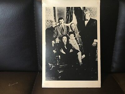 Addams Family B/W Postcard Tv Series