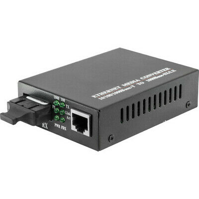 100m Black Fibre Media Converter with stable performance full and half duplex