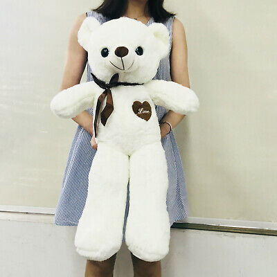60CM Giant Big Plush Stuffed Teddy Bear White Huge Soft Toy Best Xmas Gift US