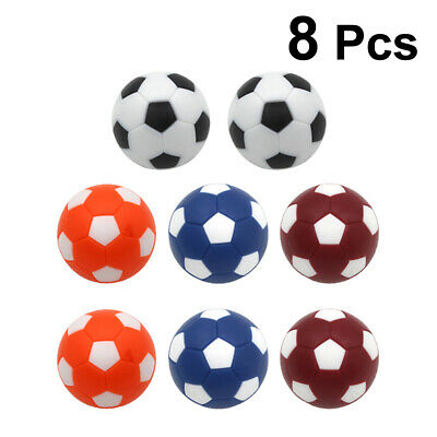 8pcs Table Soccer Balls Replacement Tabletop Game Ball for Leisure Entertainment