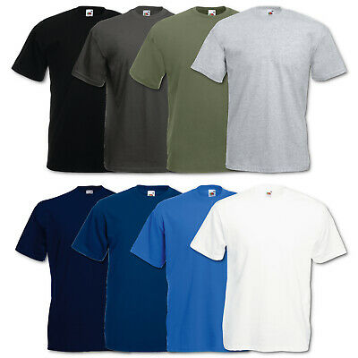 3er Fruit of the Loom T-Shirt Herren Valueweight T Sets Shirts Tshirt S - 5XL