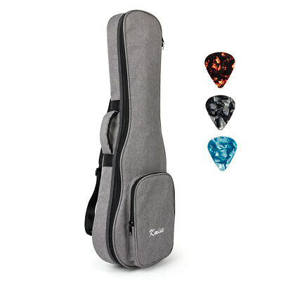 Kmise Gig Bag 32 inch Case for Guitarlele UBass Guitar Double Strap With 3 Picks