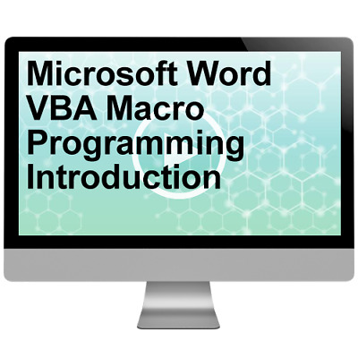Microsoft Word VBA Macro Programming Introduction Video Training Course