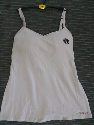 M&S Secret SUPPORT Cami COTTON Bra Vest Fawn Padded cups Camisole