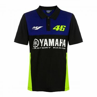 Valentino Rossi VR46 Moto GP M1 Yamaha Racing Team Polo Shirt Official 2019