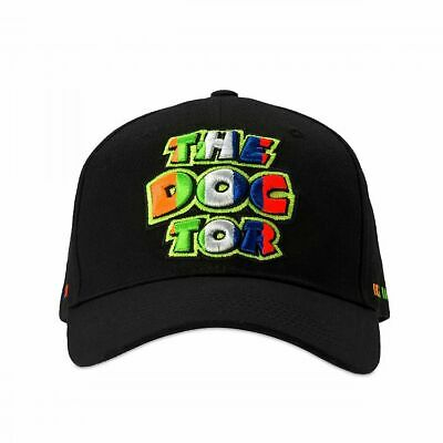 Valentino Rossi VR46 Moto GP The Doctor Stripes Black Cap Official 2019