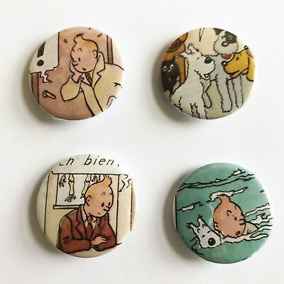 Tintin Badges Set Of Four 25mm