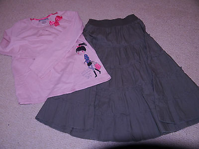Girls La Redoute outfit age 8, skirt & T-shirt