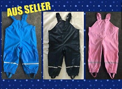 New Kids Toddler Winter Rain Snow Pants Waterproof Overalls Girls Boys 12-24mths