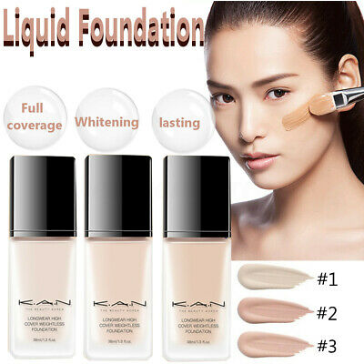 30ml Full Coverage Cosmetic Long-lasting Liquid Foundation Concealer Face Makeup
