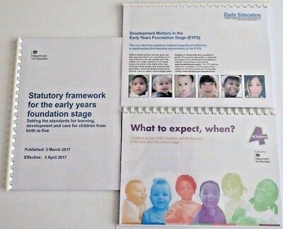 EYFS Development Matters Statutory Framework & What  To Expect In Full Colour