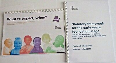 2 x Early Years Guides EYFS Statutory Framework & What To Expect In Full Colour