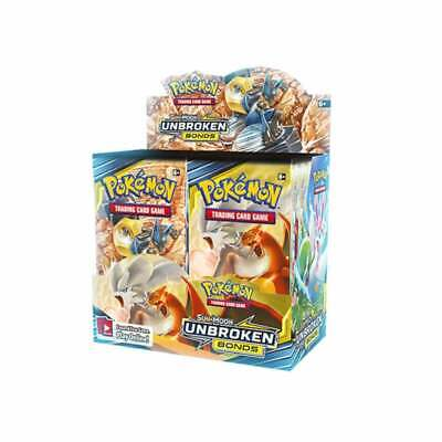Pokemon Unbroken Bonds Sealed Booster Box of 36 Packs - TCG Cards Sun & Moon