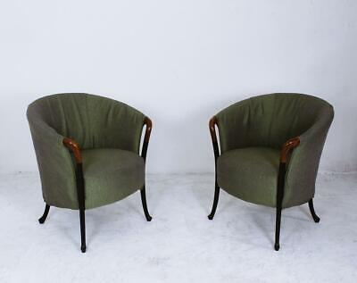 Pair of Armchairs Model Progetti by Umberto Asnago for Giorgetti, Italy, 1980s