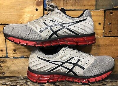 pretty nice af236 61200 Asics T837N Gel-Quantum Glacier Grey Phan Red Men s Running Shoes Sz 10.5  44.5