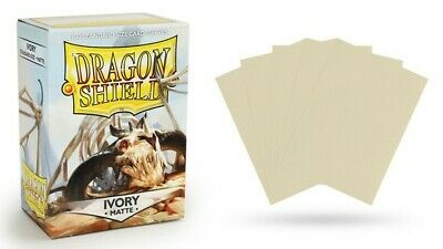Dragon Shield Mat Ivory 100 Protective Sleeves Cases Standard Card Sleeves