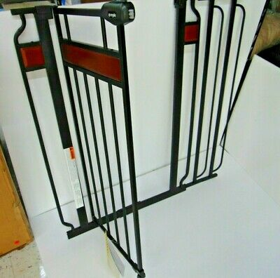 Regalo Home Accents Extra Tall Designer Walk Thru Baby Gate in Black Steel 0320