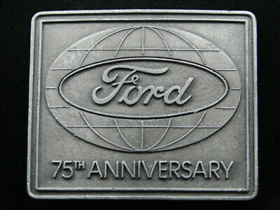 RI07139 VINTAGE 1970s **FORD MOTOR COMPANY 75TH ANNIVERSARY** BELT BUCKLE