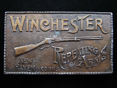 RG11107 VINTAGE 1970s **WINCHESTER REPEATING ARMS** GUN & FIREARM BELT BUCKLE