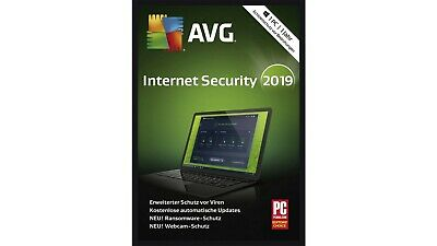 AVG Internet Security 2019 - 1 PC - VOLLVERSION / UPGRADE - Download Key